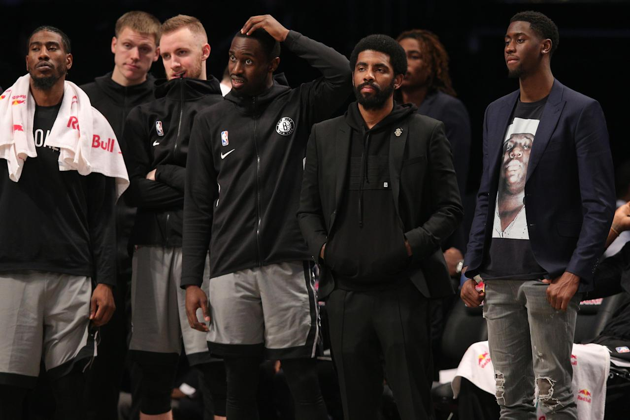 Nets GM Sean Marks defends embattled Kyrie Irving: 'Let's judge this book when we get through a few chapters'