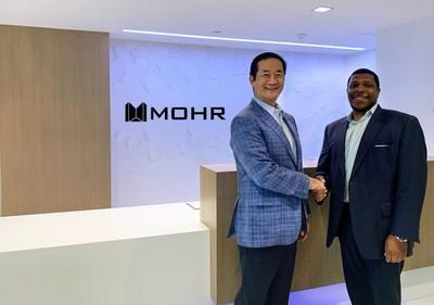 Chairman & CEO, Robert Shibuya, pictured with Clyde Robinson, Jr., Managing Partner, Head of Diversity & Inclusion with Mohr Partners.