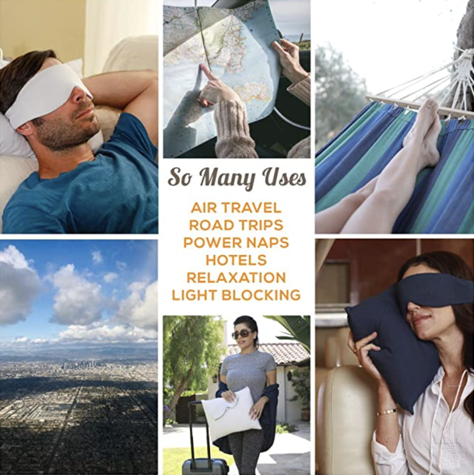 Sleep mask for women and men, eco-friendly fabric, lightweight. PHOTO: Amazon