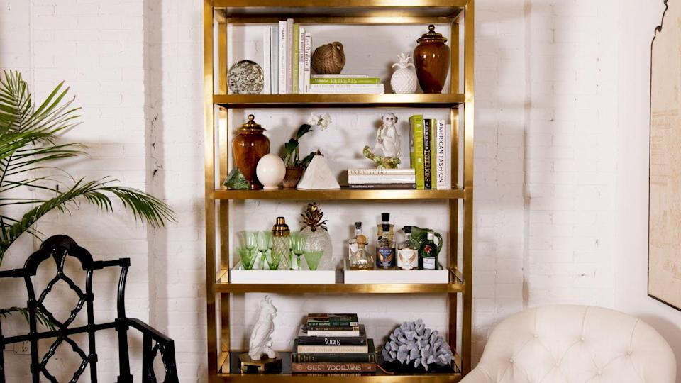 "<p>Once you've been staring at your bookshelves long enough, they're bound to start bothering you. Get <a href=""https://www.housebeautiful.com/design-inspiration/a27681984/how-to-style-bookshelves/"" rel=""nofollow noopener"" target=""_blank"" data-ylk=""slk:Eddie Ross's advice for three ways to style them here."" class=""link rapid-noclick-resp"">Eddie Ross's advice for three ways to style them here.</a> (Just please don't do any of <a href=""https://www.housebeautiful.com/lifestyle/a26797065/dumb-design-ideas-that-ruin-bookshelves/"" rel=""nofollow noopener"" target=""_blank"" data-ylk=""slk:these things."" class=""link rapid-noclick-resp"">these things.</a>)</p>"