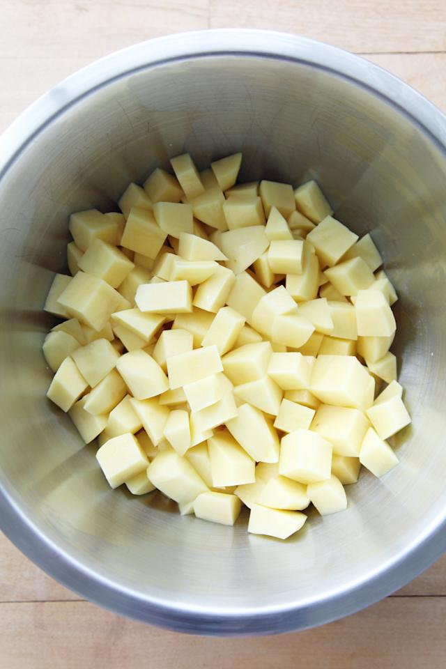 <p>Soggy mashed potatoes? No thank you. Take an extra minute when draining the potatoes to make sure every last drop of water comes out before adding the potatoes back to the hot pot.</p>