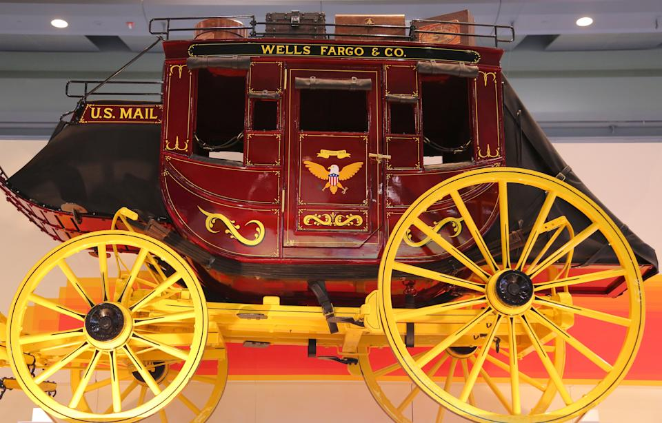 A Wells Fargo stagecoach is seen at the SIBOS banking and financial conference in Toronto, Ontario, Canada October 19, 2017. Picture taken October 19, 2017. REUTERS/Chris Helgren