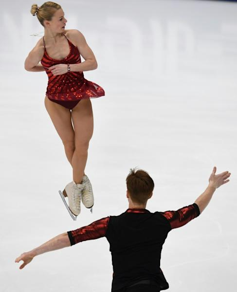Tarasova and Morozov continued an excellent day for home country Russia