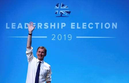 FILE PHOTO: Jeremy Hunt, a leadership candidate for Britain's Conservative Party, attends a hustings event in Birmingham