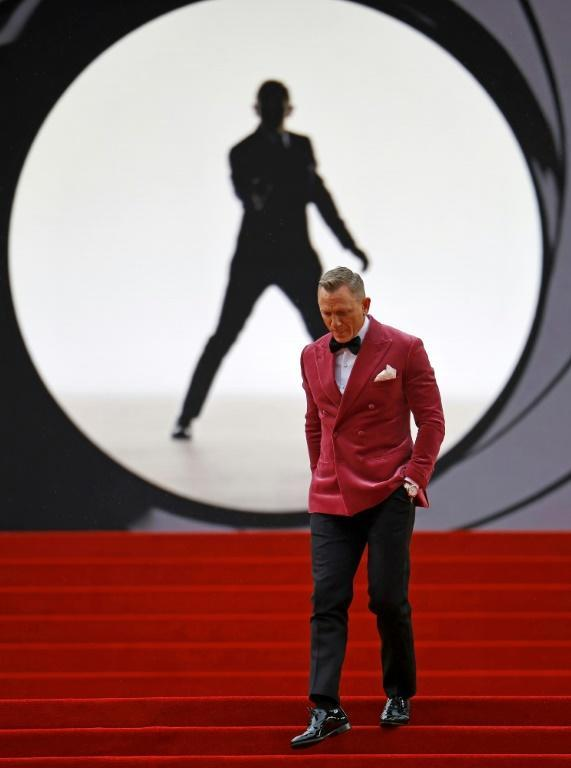 Daniel Craig said Bond movies were designed for the cinema and he was 'relieved' it was back on the big screen (AFP/Tolga Akmen)