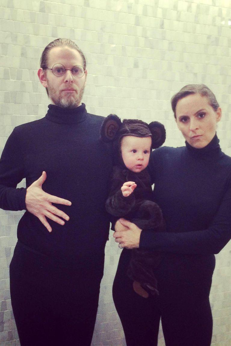 <p>All this <em>Saturday Night Live</em> costume throwback requires are black turtlenecks and a little monkey.</p>