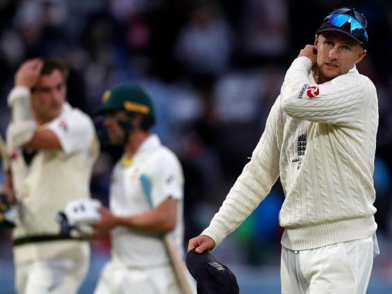 Root looks on after Australia survive (AFP/Getty)