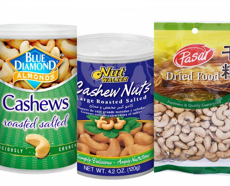 Collage Of Cashew Nuts