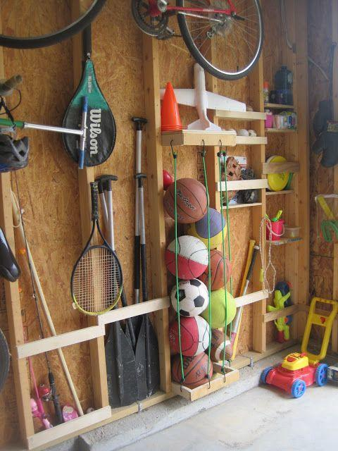 """<p>Stem the tide of soccer balls, basketballs, dodge balls and beach balls with bungee cords.</p><p><a href=""""https://designedtodwell.blogspot.com/2011/08/making-use-of-some-studs.html"""" rel=""""nofollow noopener"""" target=""""_blank"""" data-ylk=""""slk:See more at Designed To Dwell »"""" class=""""link rapid-noclick-resp""""><em>See more at Designed To Dwell »</em></a></p>"""