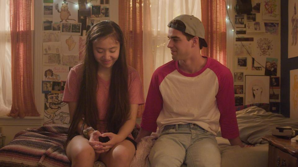 Emma Galbraith and William Magnuson in the John Hughes-esque coming of age film, 'Inbetween Girl' (Photo: Ivy Chiu/SXSW)