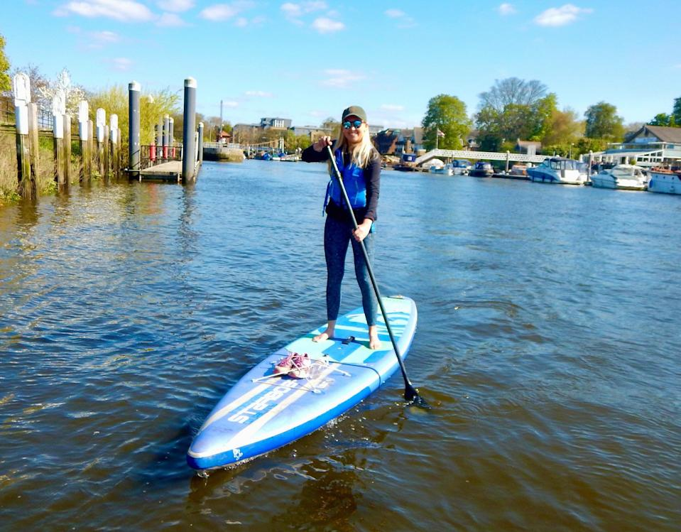 Oarsome: Katie Strick tries paddleboarding on the Thames at RichmondJames Brennan