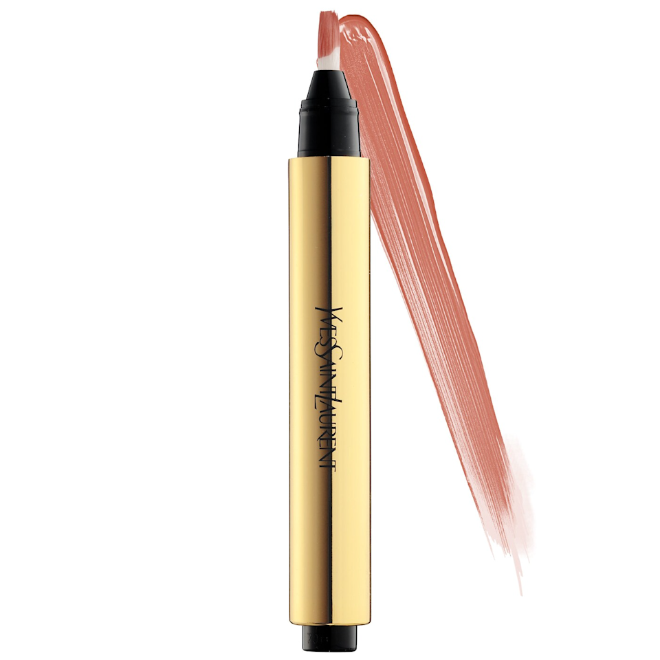 """<h2>YSL Touche Eclat Brightening Concealer</h2><br>Sometimes the perfect gift is as easy as replacing her empties so she doesn't have to.<br><br><strong>Yves Saint Laurent</strong> Touché Éclat All-Over Brightening Concealer Pen, $, available at <a href=""""https://go.skimresources.com/?id=30283X879131&url=https%3A%2F%2Fwww.sephora.com%2Fproduct%2Ftouche-eclat-radiance-perfecting-pen-P218431"""" rel=""""nofollow noopener"""" target=""""_blank"""" data-ylk=""""slk:Sephora"""" class=""""link rapid-noclick-resp"""">Sephora</a>"""