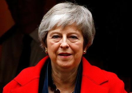 Britain's Prime Minister Theresa May leaves 10 in Downing Street in London