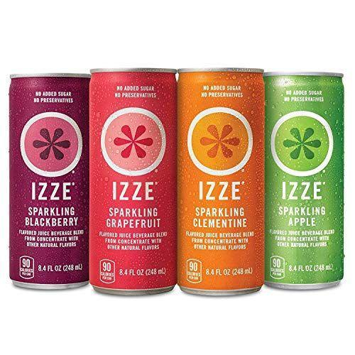 """<p><strong>Izze</strong></p><p>amazon.com</p><p><strong>$14.48</strong></p><p><a href=""""https://www.amazon.com/dp/B00XA0DP86?tag=syn-yahoo-20&ascsubtag=%5Bartid%7C10063.g.37661227%5Bsrc%7Cyahoo-us"""" rel=""""nofollow noopener"""" target=""""_blank"""" data-ylk=""""slk:Shop Now"""" class=""""link rapid-noclick-resp"""">Shop Now</a></p><p>With a stronger flavor than seltzer, these carbonated juices are perfect for mixers in your favorite cocktail or on their own. </p>"""