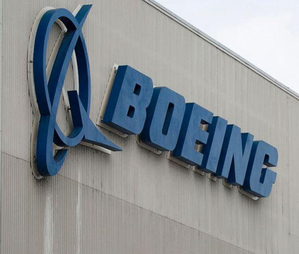 PHOTO: The Boeing logo at the Boeing Renton Factory in Renton, Wash., March 12, 2019. (Jason Redmond/AFP via Getty Images, FILE)
