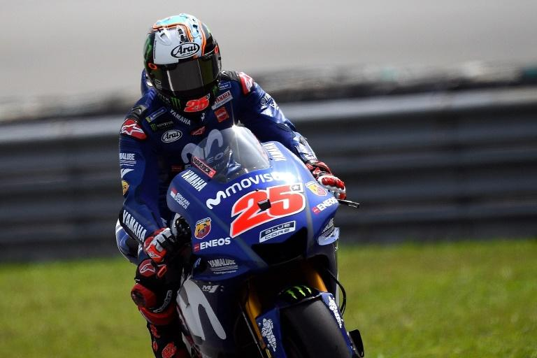 Vinales on the second day of the pre-season test at Sepang