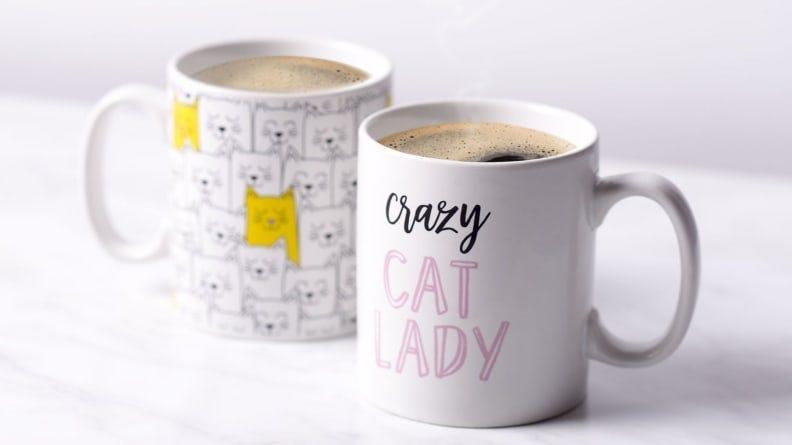 This set of mugs will put a smile on your face each morning.