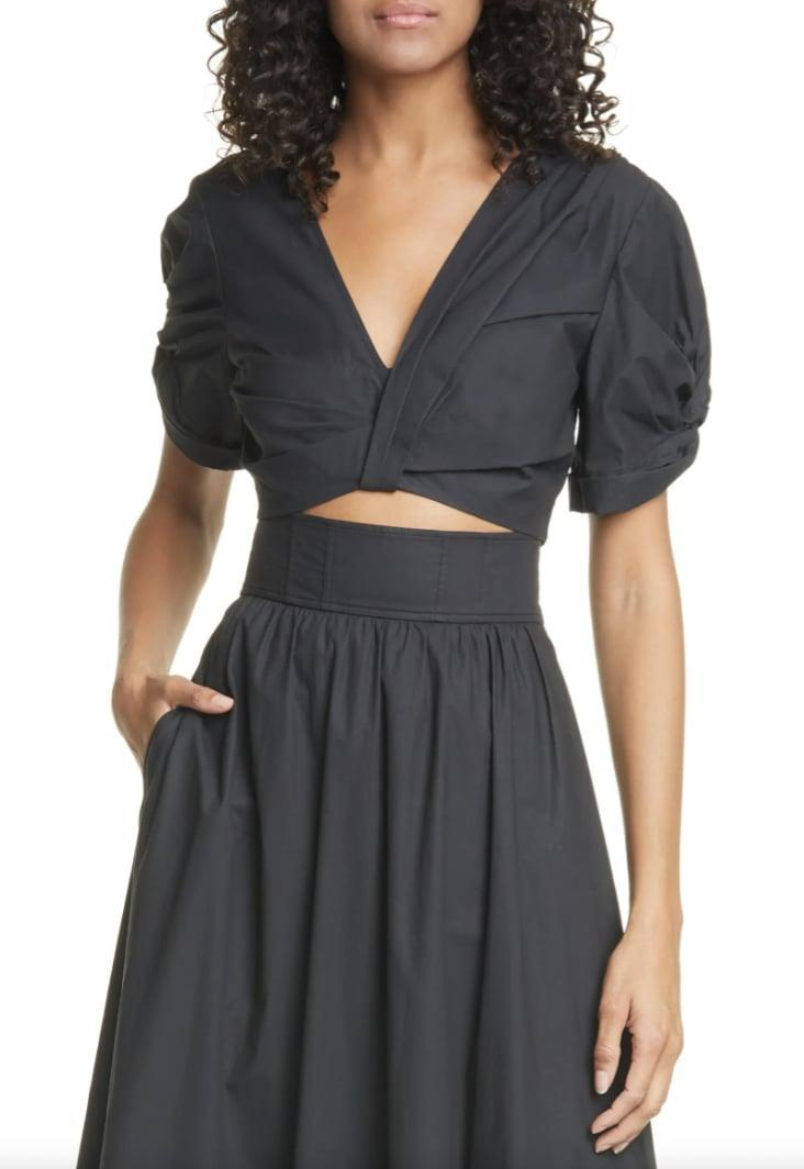 <p>We're ready for our next vacation in this <span>A.L.C. Ryan Crop Top</span> ($100, originally $295). </p>