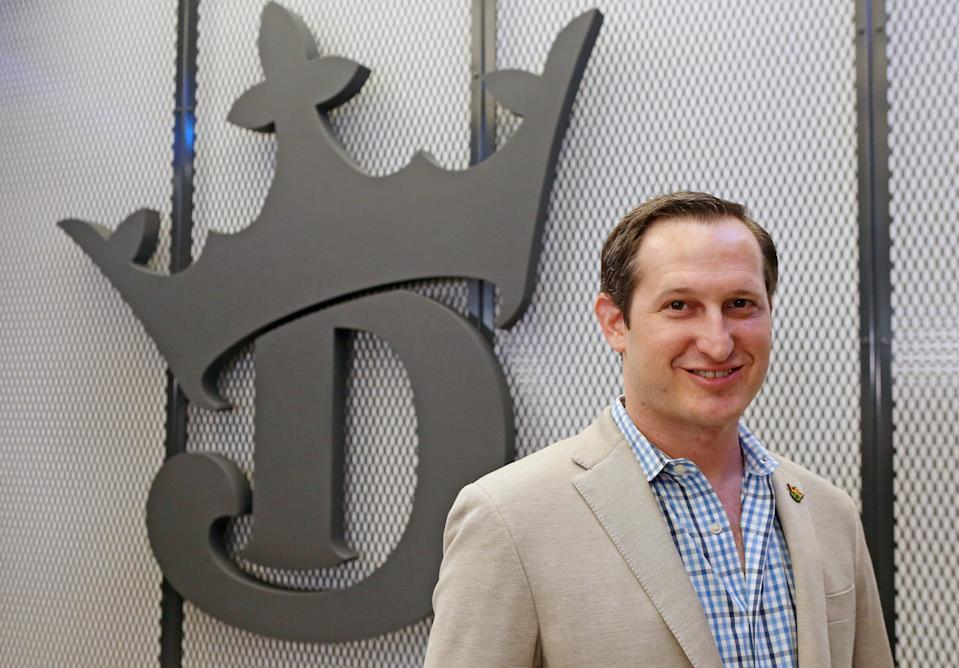 BOSTON, MA - MARCH 26:  DraftKings co-foundersand CEO Jason Robins is seen at the company's new headquarters on March 26, 2019 in Boston, Massachusetts. (Staff Photo By Angela Rowlings/MediaNews Group/Boston Herald)  (Photo by Angela Rowlings/MediaNews Group/Boston Herald via Getty Images)