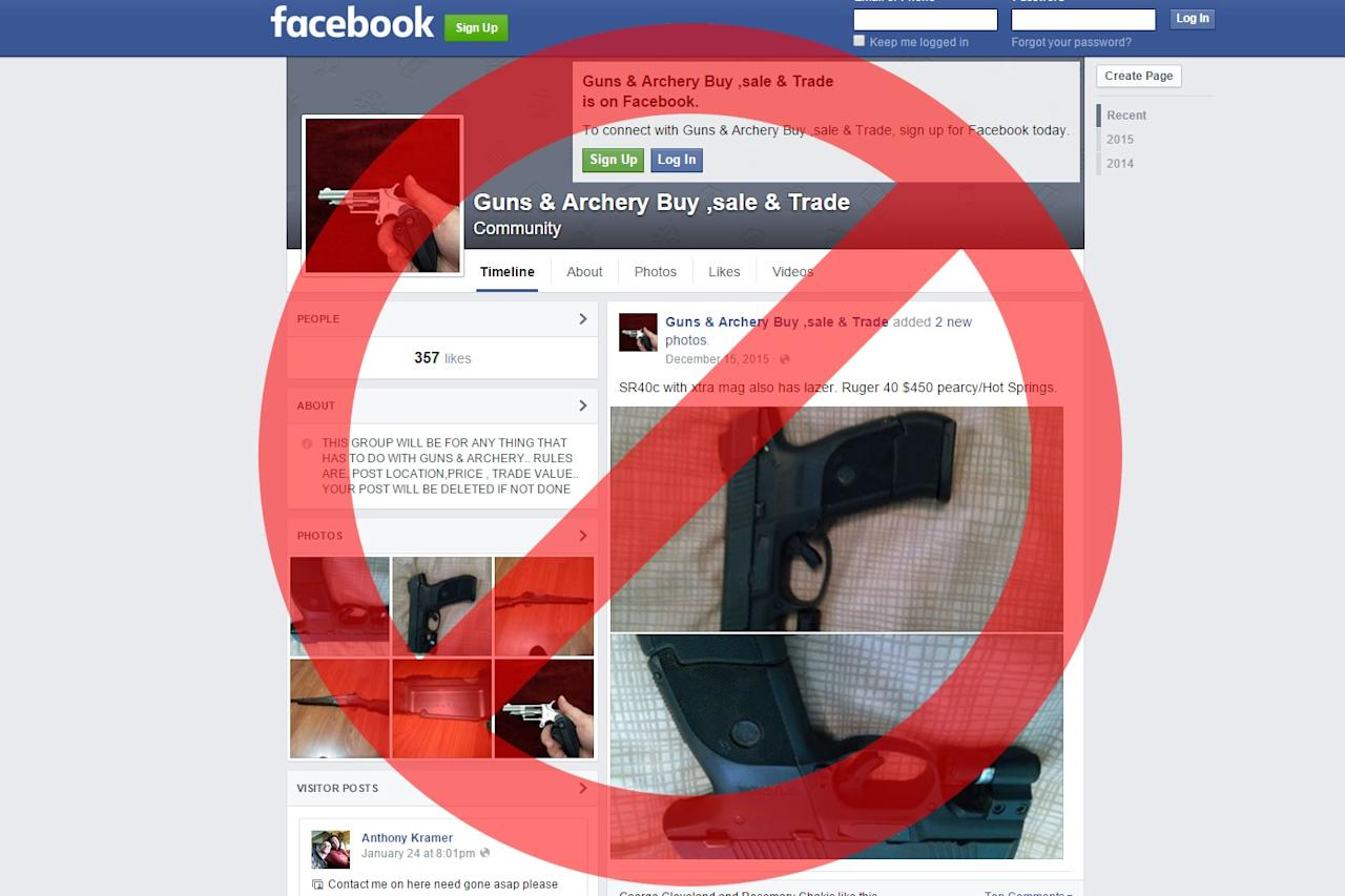 Private gun sales are now banned on Facebook, Instagram