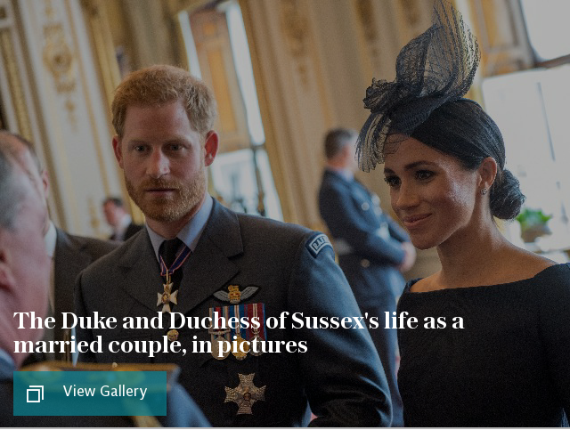 The Duke and Duchess of Sussex's life as a married couple, in pictures