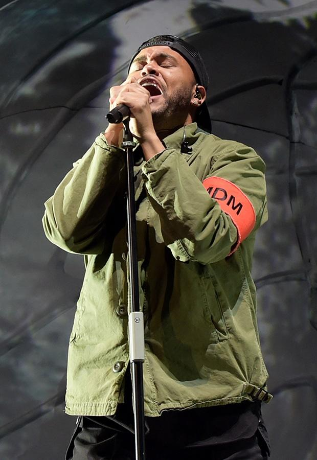 The Weeknd performing at Coachella.
