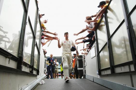 Cook after hitting an unbeaten 244 at the MCG in 2017. England lost the series 4-0 (Getty)