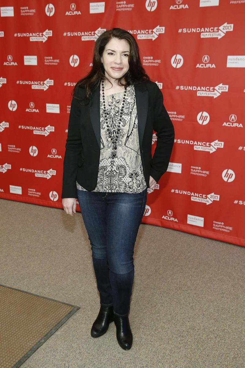 """Writer Stephanie Meyer poses at the premiere of """"Austenland"""" during the 2013 Sundance Film Festival on Friday, Jan. 18, 2013 in Park City, Utah. (Photo by Danny Moloshok/Invision/AP)"""