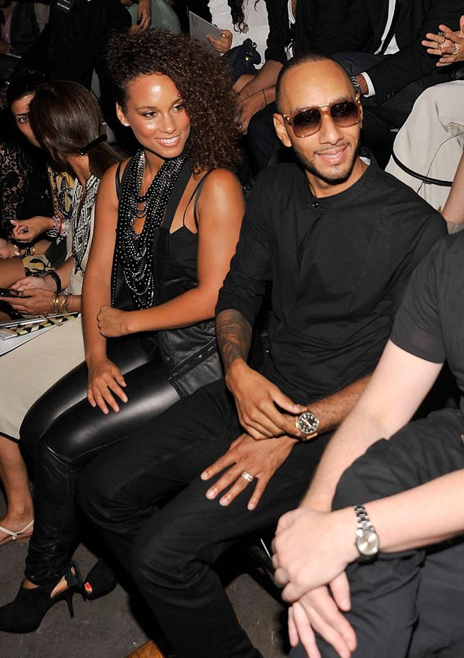 "Alicia Keys and hubby Swizz Beatz were also in attendance. Are you a fan of the sexy singer's biker babe look? Gary Gershoff/<a href=""http://www.wireimage.com"" target=""new"">WireImage.com</a> - September 10, 2011"