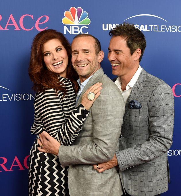 Will & Grace creator Max Mutchnik with Debra Messing and Eric McCormack (Photo: Kevin Winter via Getty Images)