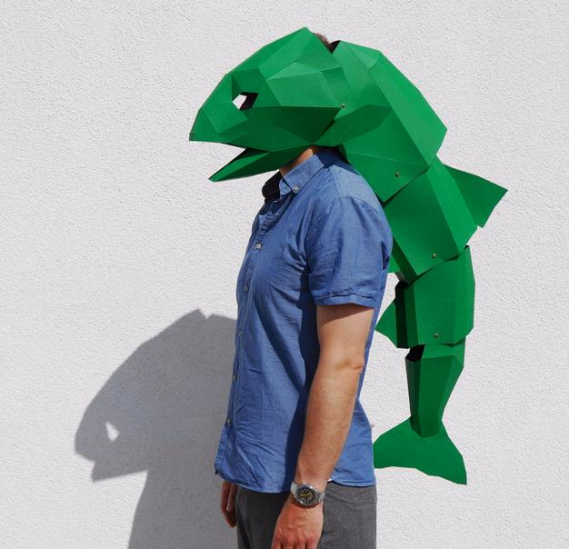 For 7 You Can Download And DIY A Wildly Cool Geometric Animal Mask