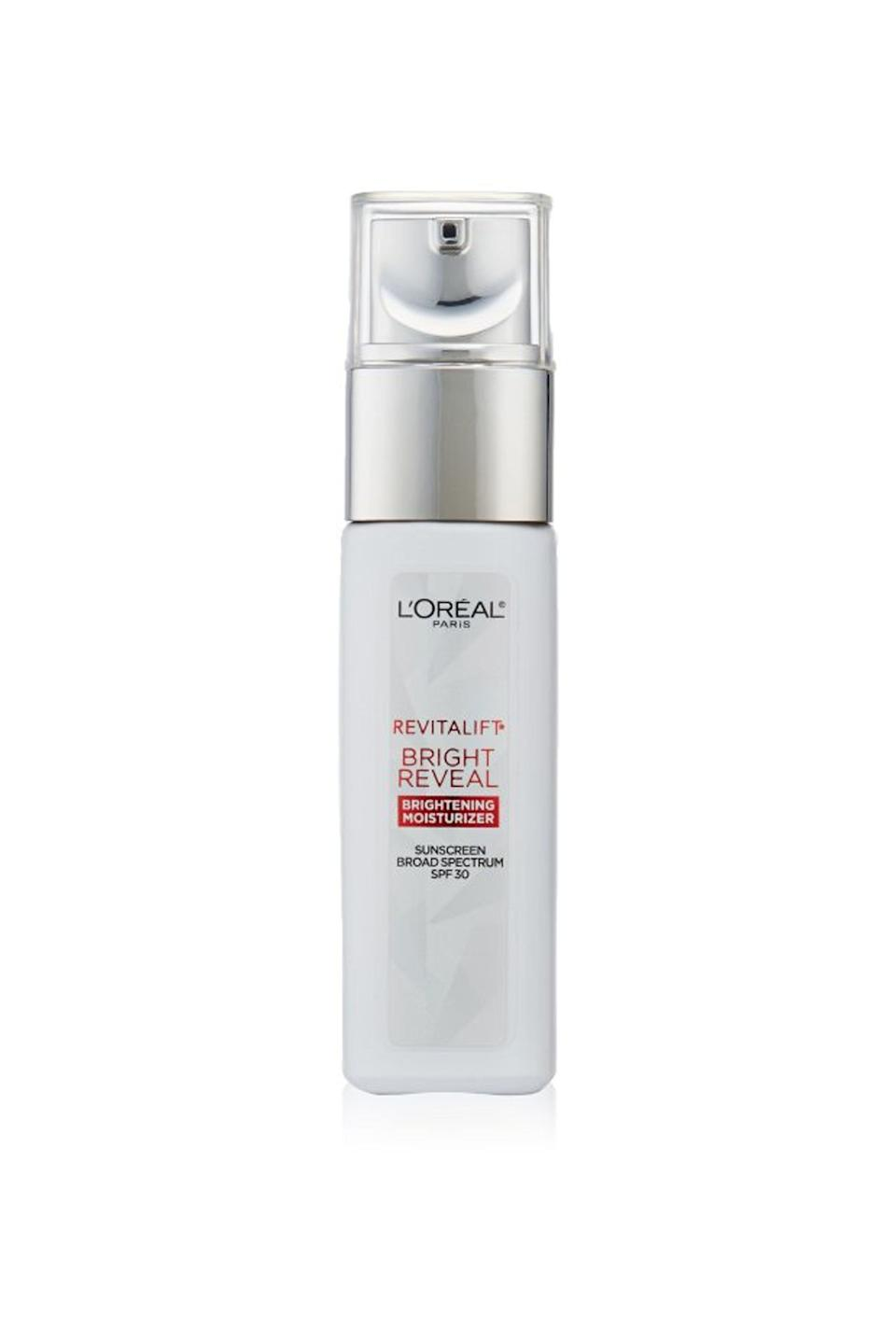 """<p><strong>L'Oréal Paris</strong></p><p>amazon.com</p><p><strong>$19.99</strong></p><p><a href=""""https://www.amazon.com/dp/B01F7SUHIO?tag=syn-yahoo-20&ascsubtag=%5Bartid%7C10055.g.32906564%5Bsrc%7Cyahoo-us"""" rel=""""nofollow noopener"""" target=""""_blank"""" data-ylk=""""slk:Shop Now"""" class=""""link rapid-noclick-resp"""">Shop Now</a></p><p>The best of the GH Beauty Lab's anti-aging day cream test, L'Oréal topped Lab and tester assessments for tackling top skin concerns: reducing <a href=""""https://www.goodhousekeeping.com/beauty/anti-aging/g29323401/best-dark-spot-corrector/"""" rel=""""nofollow noopener"""" target=""""_blank"""" data-ylk=""""slk:UV spots"""" class=""""link rapid-noclick-resp"""">UV spots</a>, evening tone, and moisturizing. In Lab measurements, the vitamin C and <a href=""""https://www.goodhousekeeping.com/beauty/anti-aging/a31155061/what-does-glycolic-acid-do/"""" rel=""""nofollow noopener"""" target=""""_blank"""" data-ylk=""""slk:glycolic acid"""" class=""""link rapid-noclick-resp"""">glycolic acid</a> cream <strong>increased skin's moisture levels by 28% and reduced hyperpigmentation spots by 11% in four weeks</strong>. Testers found it absorbed fast and left a silky finish. """"My skin stayed hydrated throughout the day,"""" a user commented.</p>"""