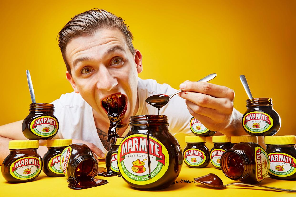Andre Ortolf owns a wide variety of world records in the 2018 edition ofGuinness World Records, including most Marmite eaten in one minute: 252 grams.