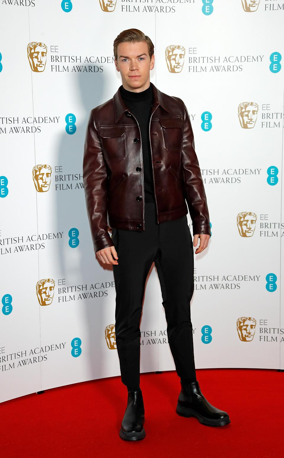 <p>On January 9, actor Will Poulter gave us major outfit inspo on the red carpet in a burgundy-hued jacket and a pair of stompy Chelsea boots. <em>[Photo: Getty]</em> </p>