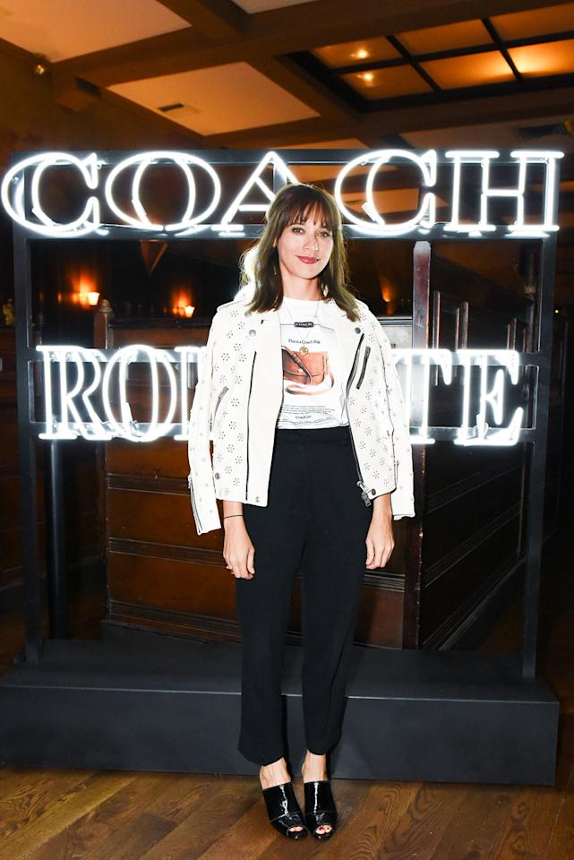 <h2>Rashida Jones</h2>                                                                                                                                                                             <p><p>In a Coach & Rodarte jacket and T-shirt</p>                                                                                                                                                                               <h4>Courtesy of Coach</h4>