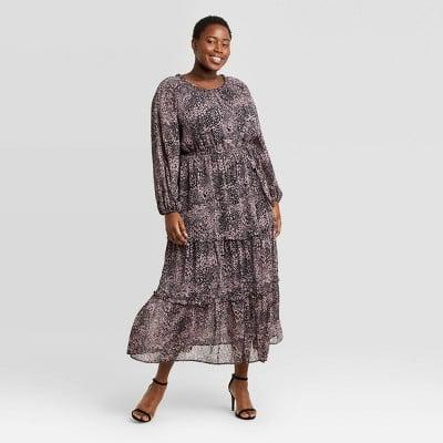 <p>This <span>Ava &amp; Viv Floral Print Long Sleeve Tiered Dress</span> ($30) is so easy to slip on, you'll find yourself reaching for it often.</p>