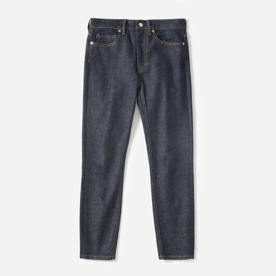 "<p>These jeans have a raw denim aesthetic without sacrificing comfort. Crafted from Japanese fabric, they have the perfect amount of stretch.<br /><a rel=""nofollow"" href=""https://fave.co/2PcJkHW""><strong>Shop it:</strong></a> Everlane High-Rise Skinny Jean, $50 (originally $68), <a rel=""nofollow"" href=""https://fave.co/2PcJkHW"">everlane.com</a><br /></p><p> </p><p></p>"