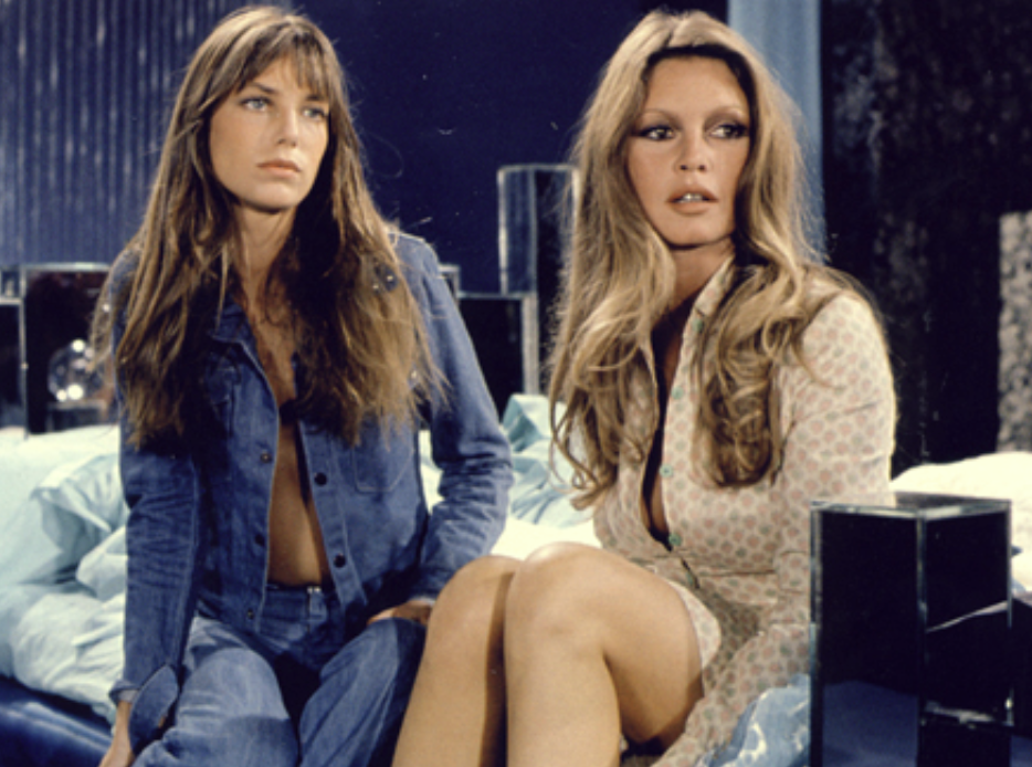 <p>Jane Birkin brought the heat in <em>If Don Juan Were a Woman</em>, wearing an open denim shirt that left not much to the imagination. She paired the iconic top with — what else? — a pair of low-rise jeans. </p>