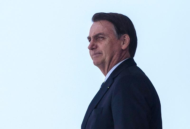 Brazil's far-right president visits CIA on first U.S. trip