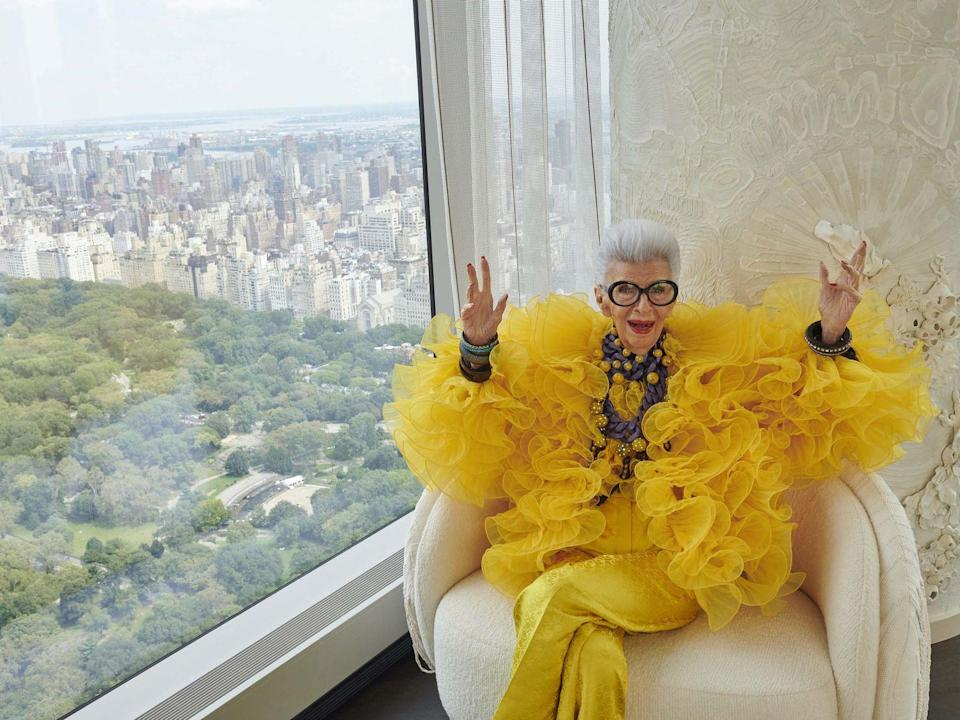 """<p>One of fashion's most famous faces is celebrating her 100th birthday this month, and H&M will be toasting her in style. Iris Apfel – who has just hit her milestone age – will see her unique style paid homage to in an H&M x Iris Apfel collection. The clothing and accessories will all embrace Apfel's bold sense of style and independence of mind. Look out for colourful co-ordinating sets, floral suits, tiered ruffle dresses and bright printed dresses. All materials used in the collection are recycled, or more sustainably sourced and each garment and accessory has been made with circularity in mind. The collection will be available in early 2022.</p><p>""""I think H&M is fabulous and they are absolute pioneers in their field – which I love! I love doing high style at affordable prices, which H&M has mastered,"""" Apfel said.</p>"""