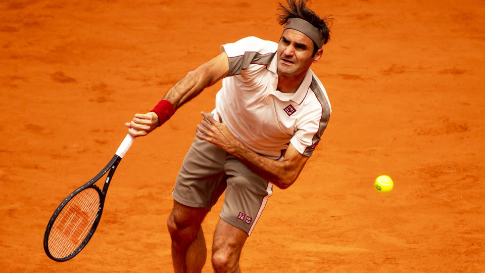 Roger Federer, pictured here in action at the French Open in 2019.