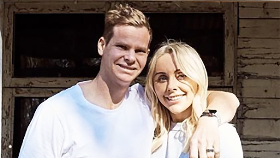 Steve Smith and wife Dani Willis will have to wait a little longer to reunite after four months apart, with new coronavirus restrictions ruining their Christmas plans together. Picture: Instagram/steve_smith49