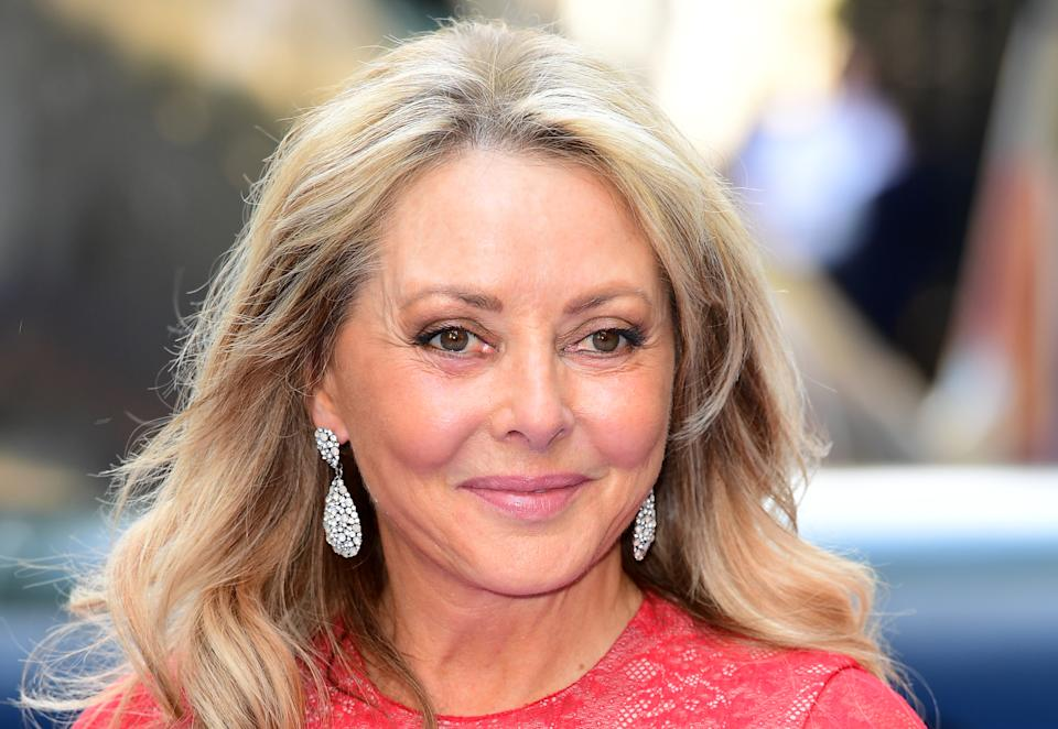 Carol Vorderman attending the premiere of Spitfire, held at the Curzon Mayfair, London. (Photo by Ian West/PA Images via Getty Images)
