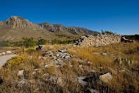 <p>Ruins of the Pinery Station rest at the base of the Guadalupe Mountain National Park, Texas // November 4, 2010</p>
