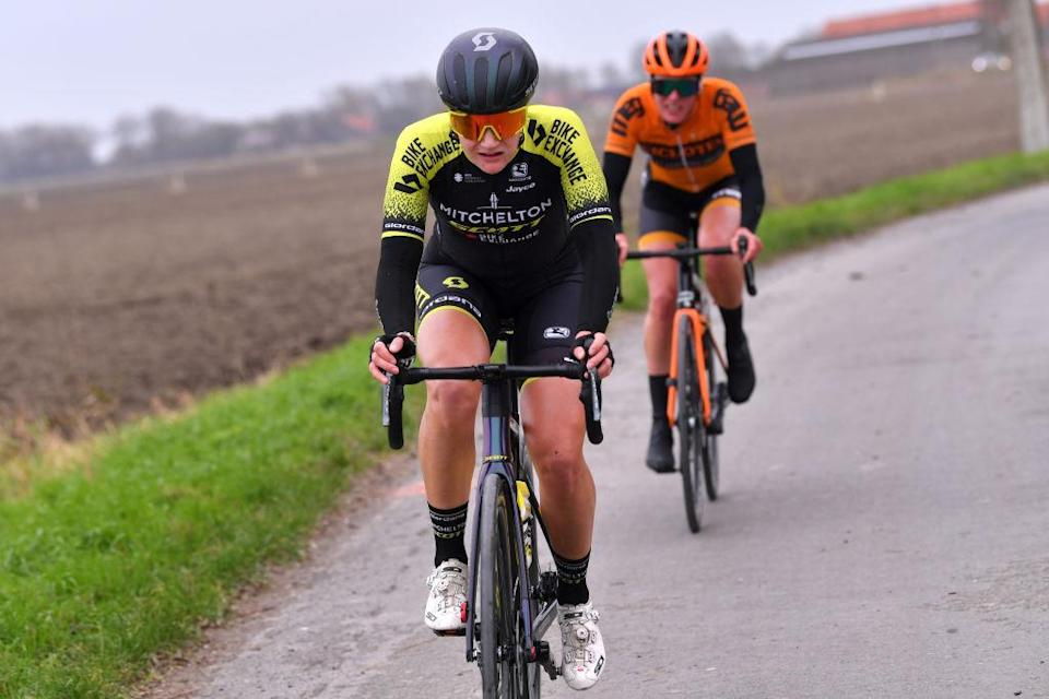 DE PANNE BELGIUM  OCTOBER 20 Jessica Roberts of United Kingdom and Team Mitchelton  Scott  during the 3rd Driedaagse Brugge  De Panne 2020 Women Classic a 1563km race from Brugge to De Panne  AG3daagse  on October 20 2020 in De Panne Belgium Photo by Luc ClaessenGetty Images