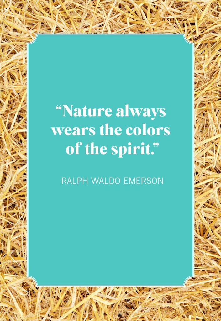 """<p>""""Nature always wears the colors of the spirit.""""</p>"""