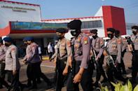 A fire at the Tangerang Penitentiary, just outside Jakarta, has killed 41 people (AFP/FAJRIN RAHARJO)