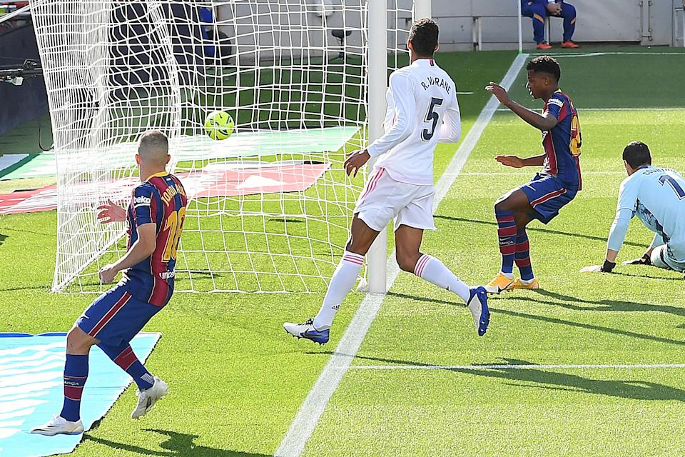 Ansu Fati scored Barca's only goalAFP via Getty Images