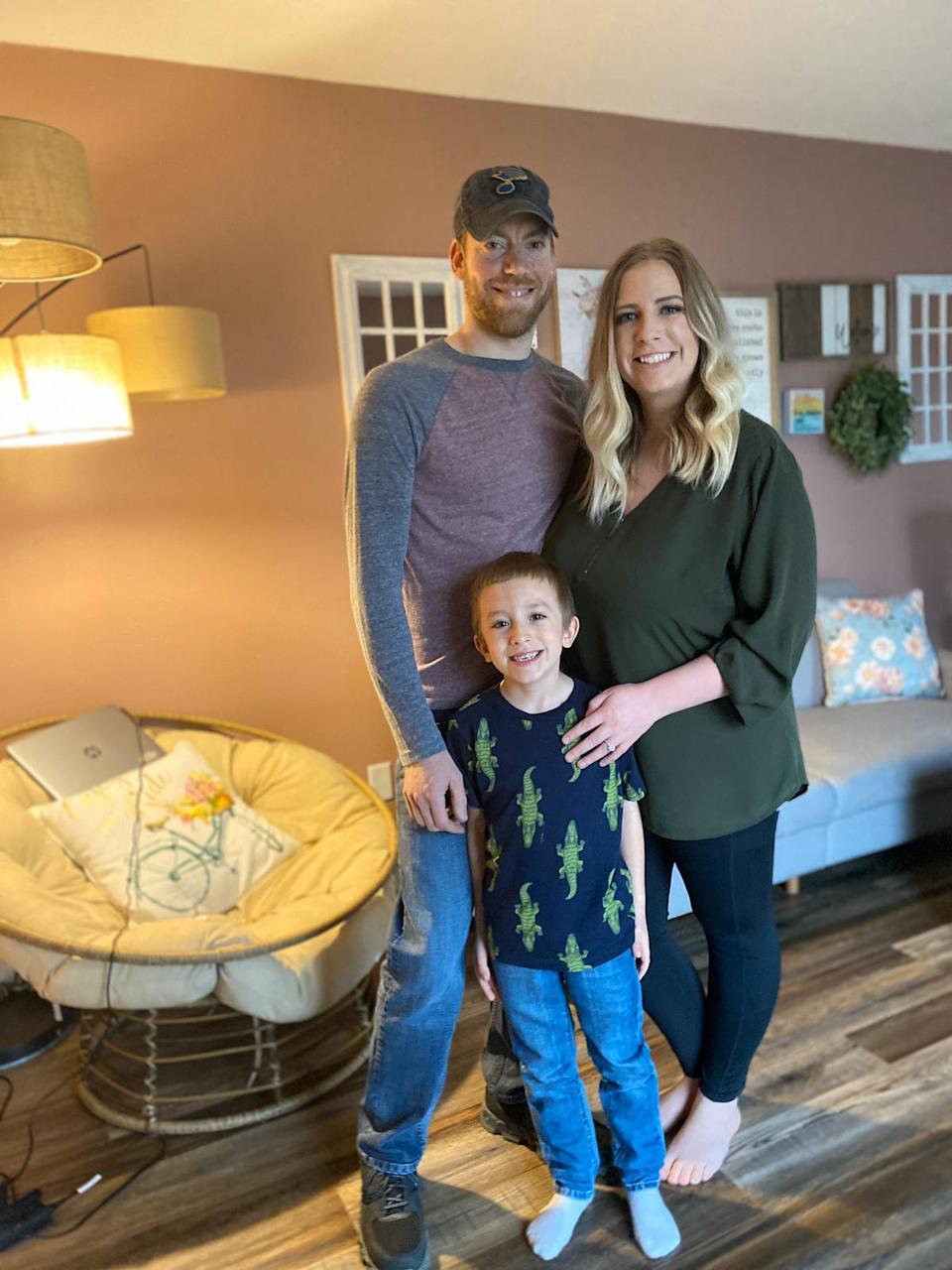 Cody and Ashley Wells had been planning to elope for a Las Vegas nuptials with their young son (PA)