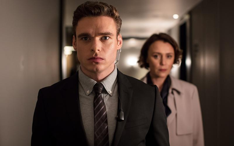 Richard Madden in The Bodyguard - WARNING: Use of this copyright image is subject to the terms of use of BBC Pictures' Digital Picture Service (BBC Pictures) as set out at www.bbcpictures.co.uk. In particular, this image may only be published by a registered User of BBC Pictures for editorial use for the purpose of publicising the relevant BBC programme, personnel or activity during the Publicity Period which ends three review weeks following the date of transmission and provided the BBC and the copyright holder in the caption are credited. For any other purpose whatsoever, including advertising and commercial, prior written approval from the copyright holder will be required.